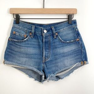 Levi's 501 High Rise Distressed Shorts Size 24